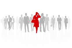 Business woman leader of the team background